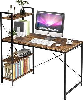 Homfa Mesa Escritorio Mesa con Estantería Mesa Ordenador Escritorio de Computadora para Oficina Despacho Estudio con 3 Est...