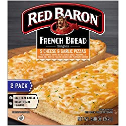Red Baron, French Bread 5 Cheese and Garlic Pizza, 8.80 oz (Frozen)