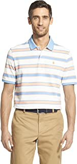 IZOD Men's Advantage Performance Short Sleeve Stripe Polo
