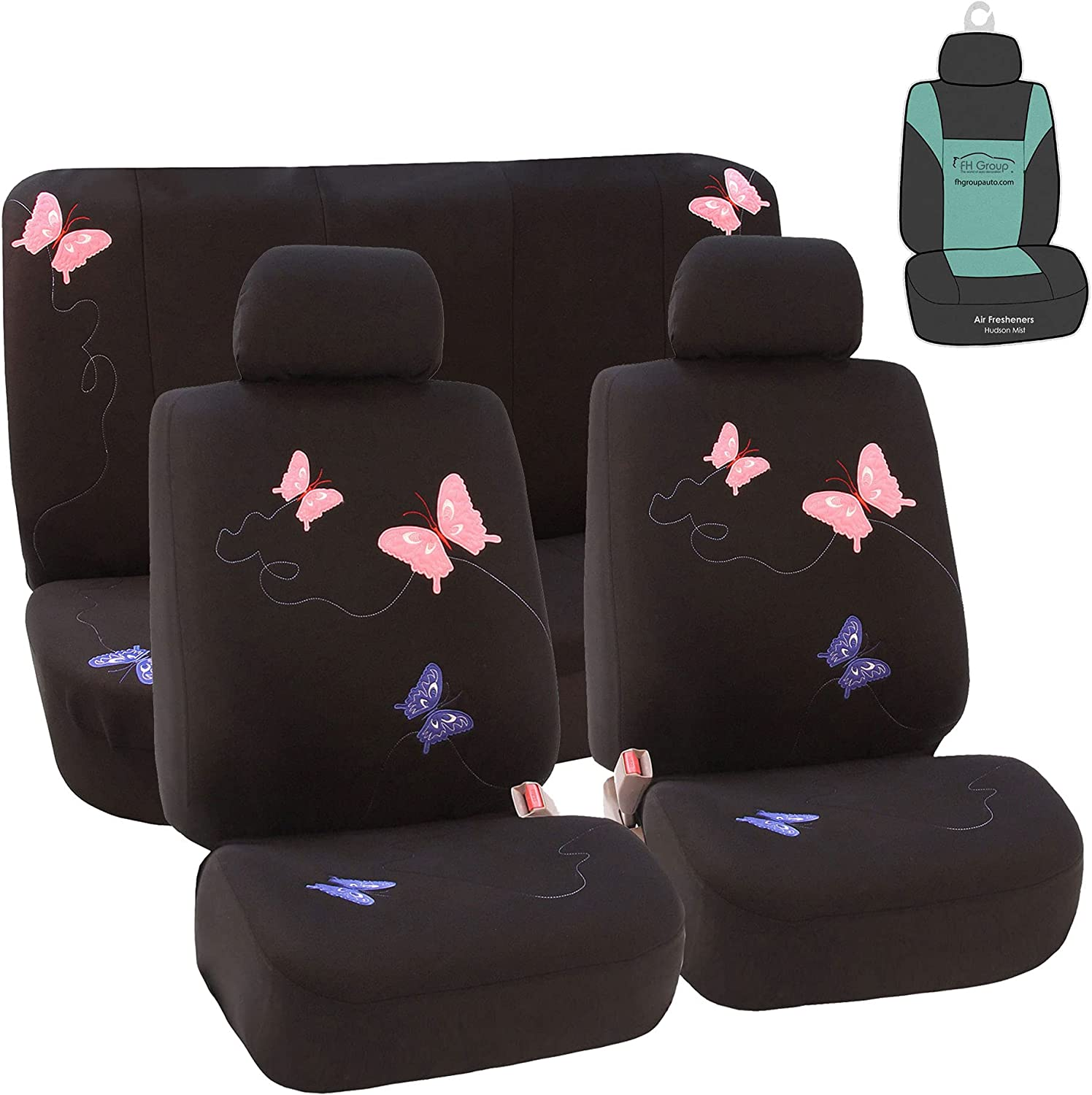 FH Group FB055115 Butterfly Embroidery Full Large discharge sale Seat Car Covers- Set Selling and selling