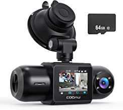 $123 » Sponsored Ad - Dual Dash Cam, 64GB SD Card Included, 1080P FHD Built-in GPS Wi-Fi , Front and Inside Car Camera Recorder f...
