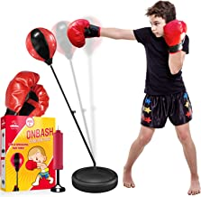 EMAAS Punching Bag Set for Kids with Boxing Gloves & Hand Pump - 3-8 Years Old Adjustable Kids Punching Bag with Stand - T...