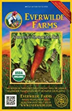 Everwilde Farms - 25 organic Marconi Red Sweet Pepper Seeds - Gold Vault Packet
