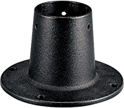 Progress Lighting P8748-31 Surface Mount Post Adapter for Surface Mounting Round, 3-Inch Bottom O.D. Posts with Anchor Bolts and Set Screws Included, Black