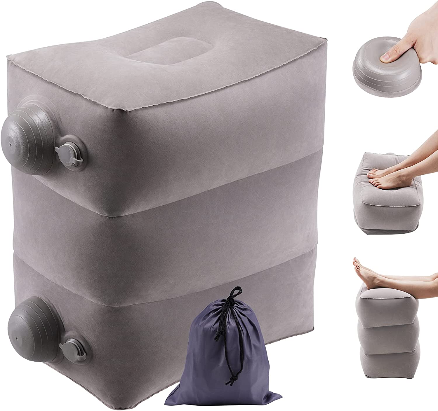 DEYAOPUPU Inflatable Travel Foot Rest Adjustable L Height Popular shop Max 47% OFF is the lowest price challenge Pillow