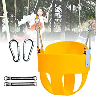 GBHJJ Barngunga utomhus, inomhus gunga, gungstol med hög ruccka ryggstöd och full hinkare, 152 cm kedja och två tryckknapp...