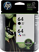 HP 64   2 Ink Cartridges   Black, Tri-color   N9J90AN, N9J89AN