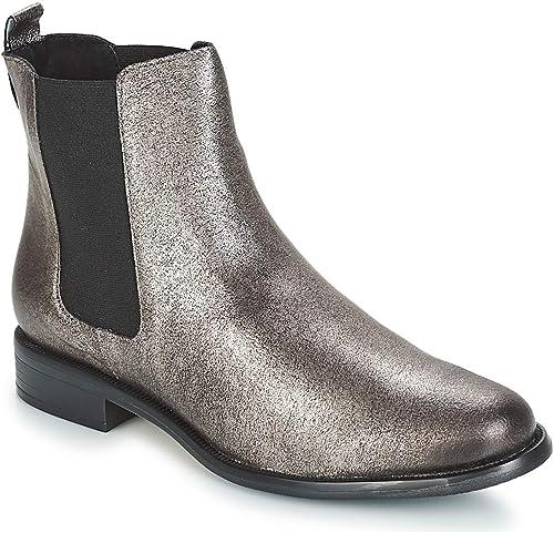 andré Caramel Stiefelletten Stiefel Damen Silbern - 36 - - - Stiefel  günstigster Preis