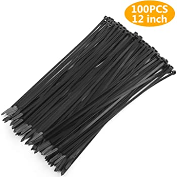 100//200pcs 12/'/' Durable Nylon Cable Zip Ties Heavy Duty Wrap Wire Home Workshop