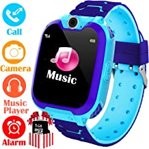YENISEY Kids Smart Watch for Boys Girls - HD Touch Screen Sports Smartwatch Phone with Call Camera Games Recorder Alarm Music Player for Children Teen Students Age 3-12 (03 Blue)