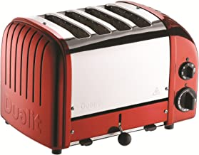 dualit toaster 4 slice red