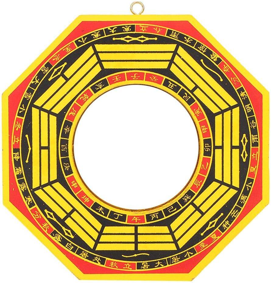 Pssopp Espejo Bagua, Vintage Feng Shui Chino Espejo 4in-6in Espejo cóncavo Convexo FengShui Taoísta Instrumento Mascota Budismo Taoísta Espejo Protección Afortunado(6# Cóncavo)