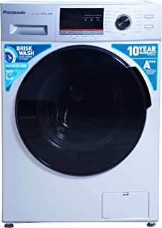 Panasonic 6 kg Fully-Automatic Front Loading Washing Machine (NA-106MB2L01, Silver, Inbuilt Heater)