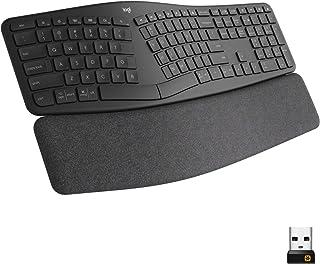 Logitech Ergo K860 Wireless Ergonomic Keyboard with Wrist Rest - Split Keyboard Layout for Windows/Mac, Bluetooth or USB C...