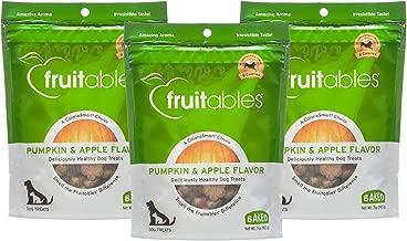 Fruitables 7 Ounce Crunchy Baked Dog Treats Pumpkin and Apple Flavor