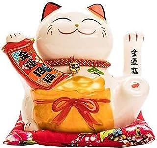Skulptur Lucky Cat Staty Animal Statuette Skulptur Hantverk Modell Vardagsrum Hem Tillbehör Kassa Register Dekoration Pres...