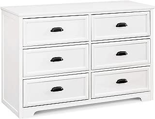 Davinci Charlie Homestead 6 Drawer Dresser, White