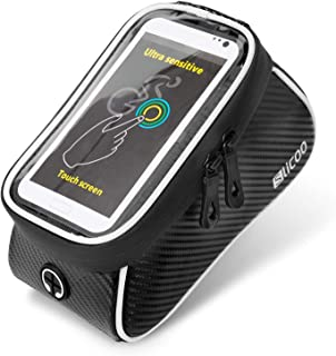 Sponsored Ad - Slicoo Waterproof Bike Bag for Handlebars Bicycle Bag Phone Mount Top Tube Bike Bag Phone Case Holder Cycli...