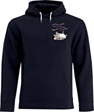 BSW Men's Soft Kitty Sheldon Cooper Big Bang Theory Song Crest Hoodie SM Navy