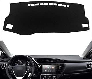 Autoxrun Carpet Dashboard Cover Center Console Cover Dash Mat Protector Sunshield Cover Fits 2014-2018 Toyota Corolla