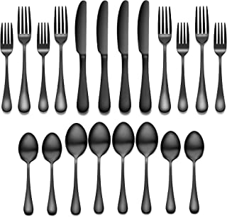 Flatware Set, 20-piece Silverware Cutlery Set with Serving Pieces, Heavy-duty Stainless Steel Utensils, Include Knife/For...