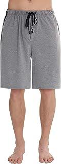 Pantalones Pijama Hombre Corto Verano Algodón Pantalon para Dormir Casa Comodo y Suave