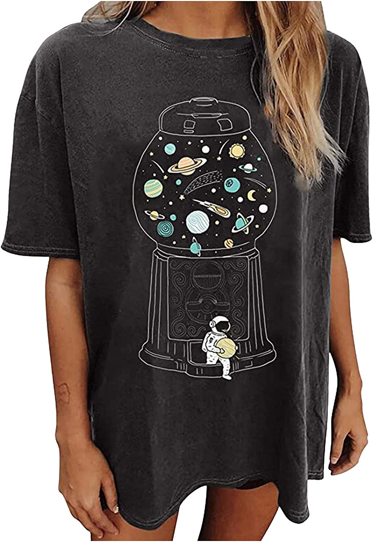 Hemlock Graphic Tees for Women Teens Tops Summer Short Sleeve Blouse Funny Cute T Shirt Crewneck Pullovers