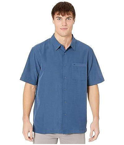 Quiksilver Waterman Centinela 4 Short Sleeve Shirt (Midnight Navy Centinella) Men