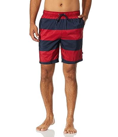 Nautica Quick Dry Rugby Stripe Series Swim Trunk