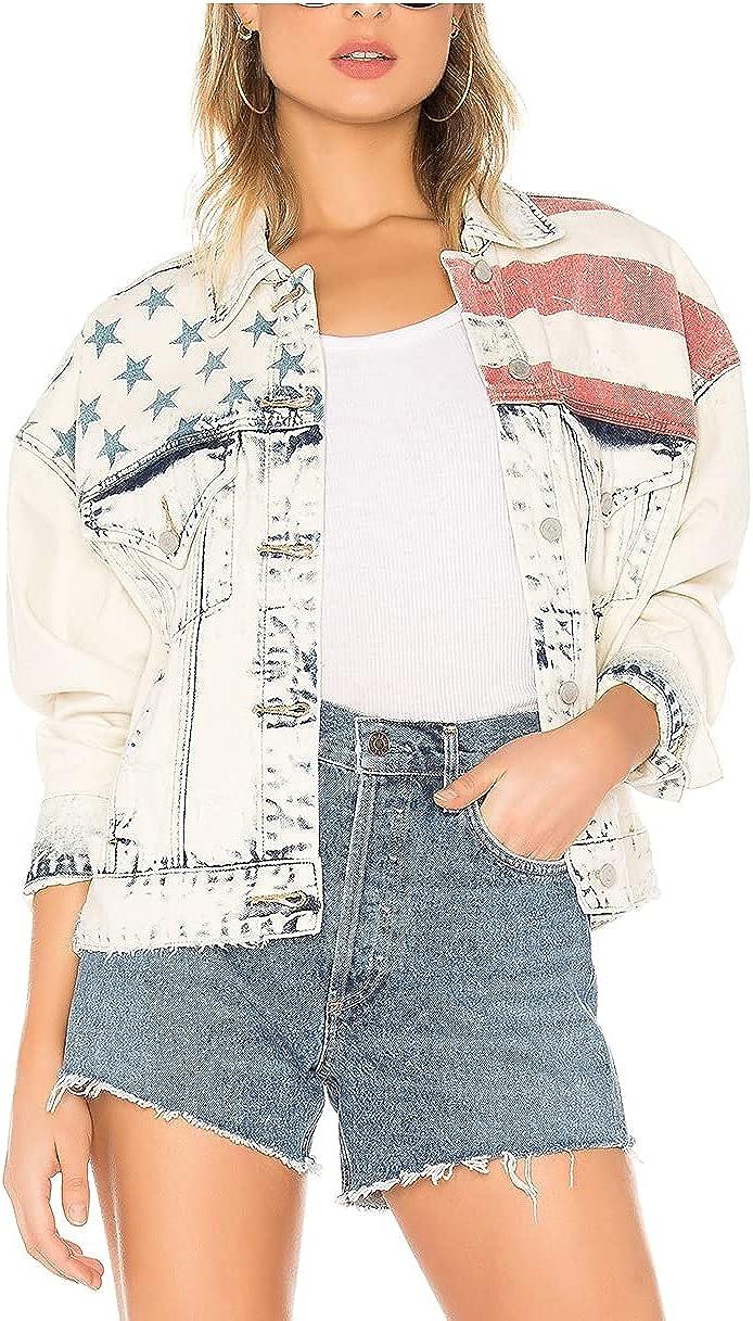 [BLANKNYC] womens Luxury Clothing Denim Trucker Jacket