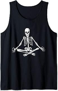 Cute Halloween Meditating Skeleton | Funny Easy Costume Gift Tank Top