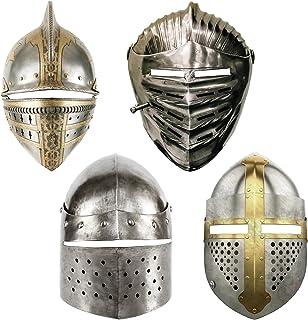 8PCS Knight MasksMedieval Party Decorations Midevil Renaissance Helmet Face Knight Masks for Kids Adults, Paper Medieval ...