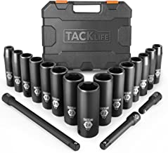 TACKLIFE Drive Impact Socket Set, 18pcs 1/2-inch Drive Deep Impact Socket Set, 6 Point,..