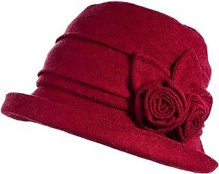Womens Woolen Derby Hat 1920s Fedora Round Bucket Fall Winter Bowler Beret Painter 55-59cm