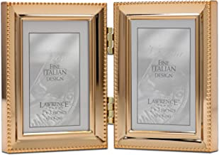 Lawrence Frames Classic Bead Picture Frame, 2.5x3.5 Double, Gold