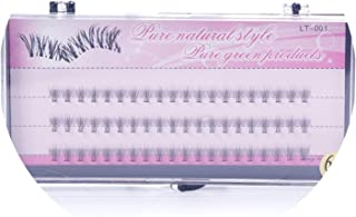 60 Bundle Makeup Individual Cluster Natural Long Eye Lashes Fake False Eyelashes Professional Makeup,6mm