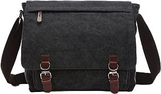 Berchirly Casual Canvas Messenger Cross Bag Travel Daypack Men Women Dark Gray