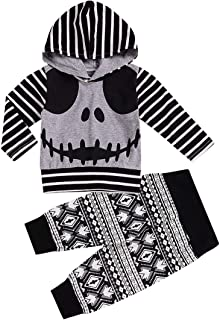 Halloween Infant Newborn Baby Boy Girl Clothes 2PCS Hoodies Tops+Pants Costumes Outfits Set