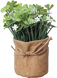 Cupcinu Artificial Plants Simulation Clover Bonsai Artificial Flower Clover Fake Flower Artificial Mother's Day Wedding Home Decoration