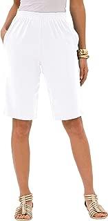 Roamans Women's Plus Size Soft Knit Bermuda Short