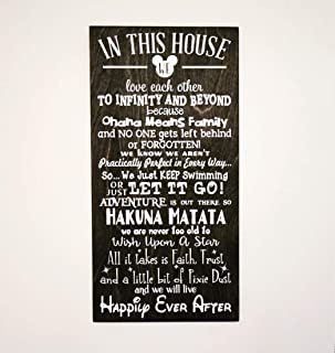 In This House We Do Disney Wooden Sign, Disney Gifts, Disney, Disney Decor, Disney Birthday Gift, Disney Christmas, Disney Decorations, Gift