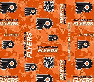 Philadelphia Flyers Fleece Blanket Fabric-Digi Camo Design-Sold by The Yard