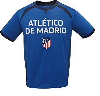 Junior Boys Atletico Madrid Official Soccer Club Crew Neck Short Sleeve Jersey T Shirt Top