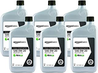 AmazonBasics Full Synthetic Motor Oil - 0W-20 - 1 Quart - 6 Pack