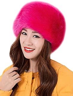 Genda 2Archer Faux Fur Cossak Russian Style Hat for Ladies Winter Warm Cap for Women