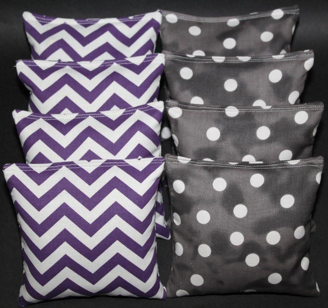 Max 58% OFF Wedding Cornhole Bean Bags Purple Smokey R Polka Reservation Black Dot Aca