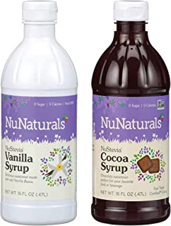 Bundle & Save! NuNaturals All Natural Chocolate Syrup + Vanilla Syrups together in one convenient Bundle!