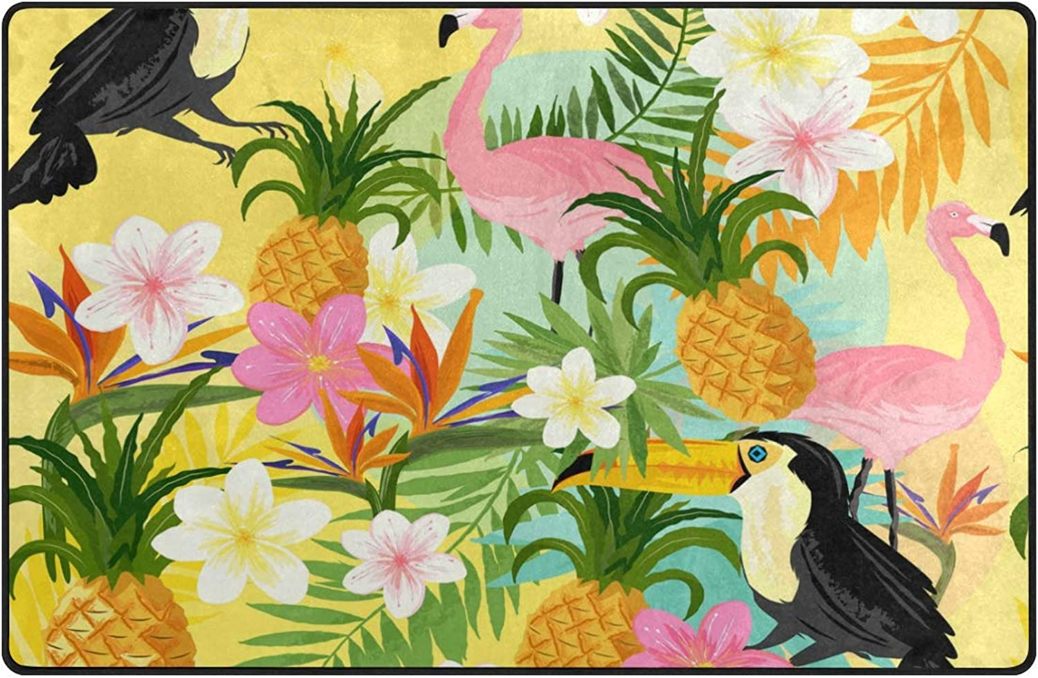 FAJRO Birds and Fruits Pattern Polyester Doormat Dirt Trapper Area Rug Multipattern Door Mat shoes Scraper Home Dec Anti-Slip Indoor Outdoor