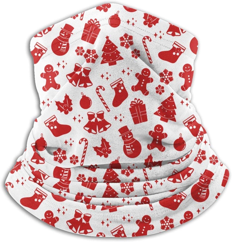 Winter Neck Gaiter Warmer Soft Face Mask Scarf Red Christmas Outdoor Sports Neck Warmer Headwear for Men Women