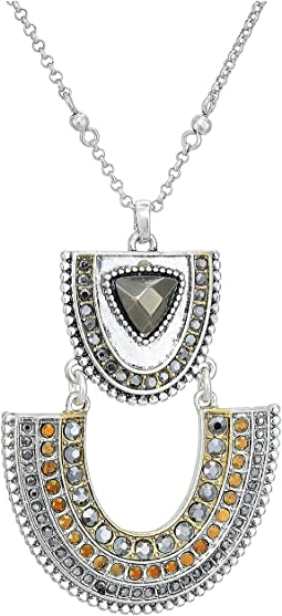 Pave Tribal Pendant Necklace